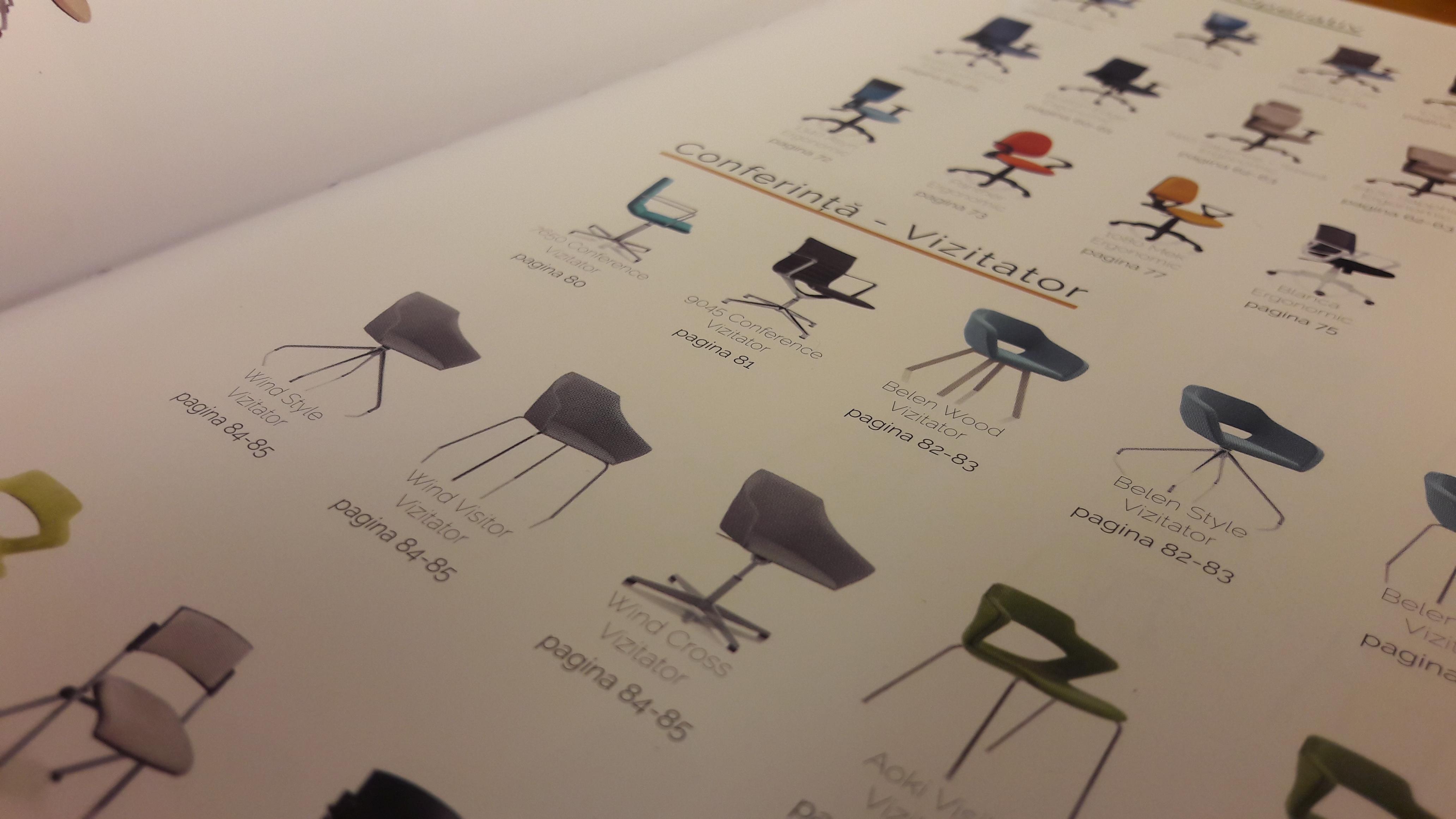 Cuprins catalog scaune