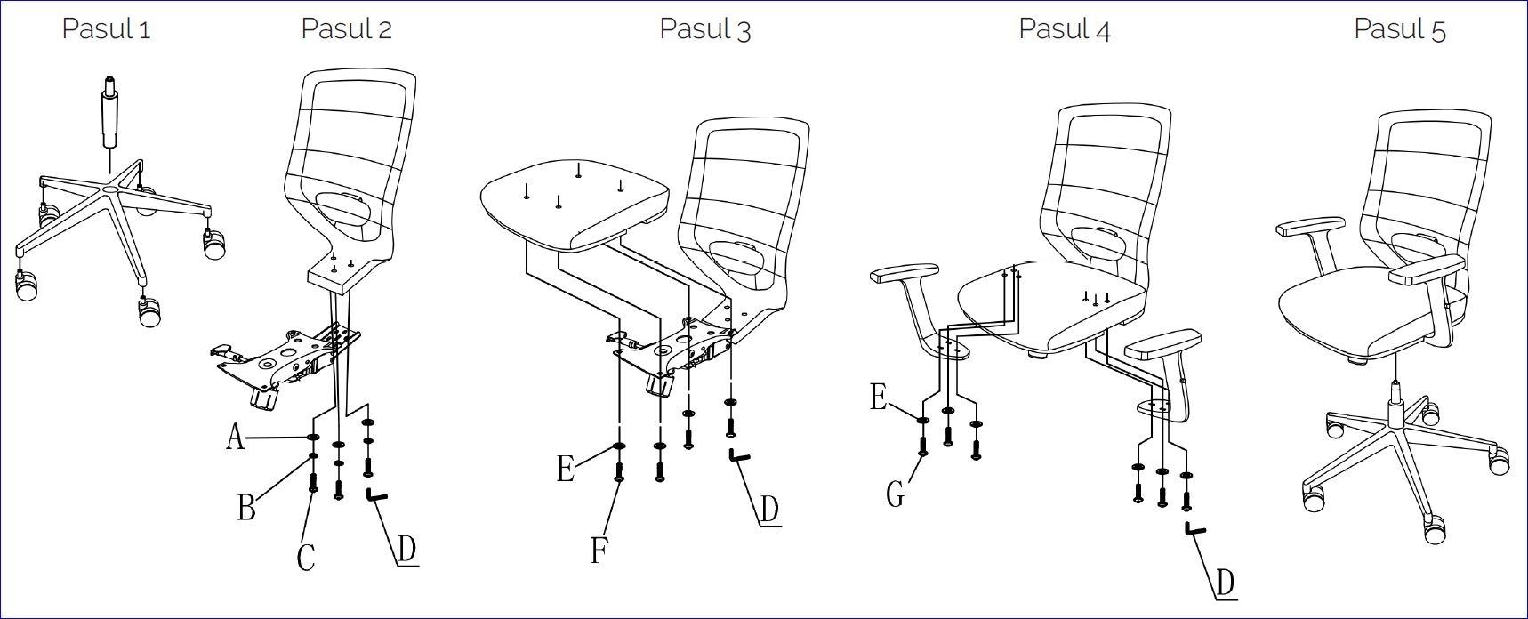 Instrucțiuni de montare și asamblare scaun Zen